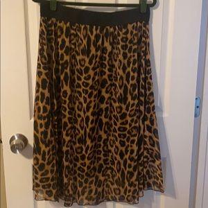 LulaRoe Leopard Print Lola Skirt